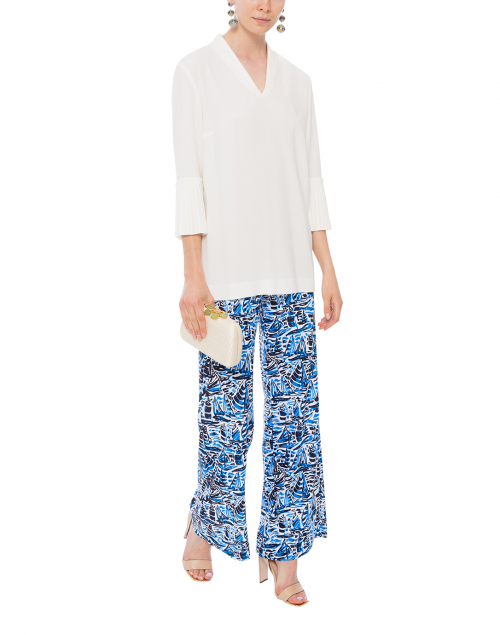 Trixie Ocean Navy Sails Wide Leg Pant