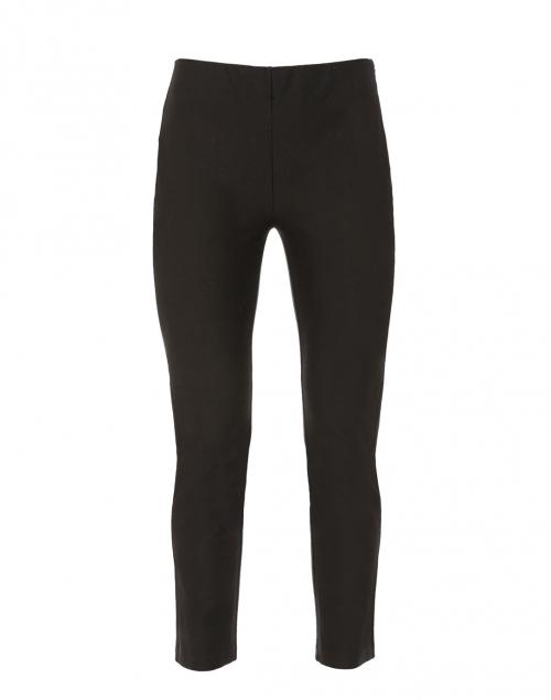 Marcia Black Hidden-Elastic Stretch Cotton Pant