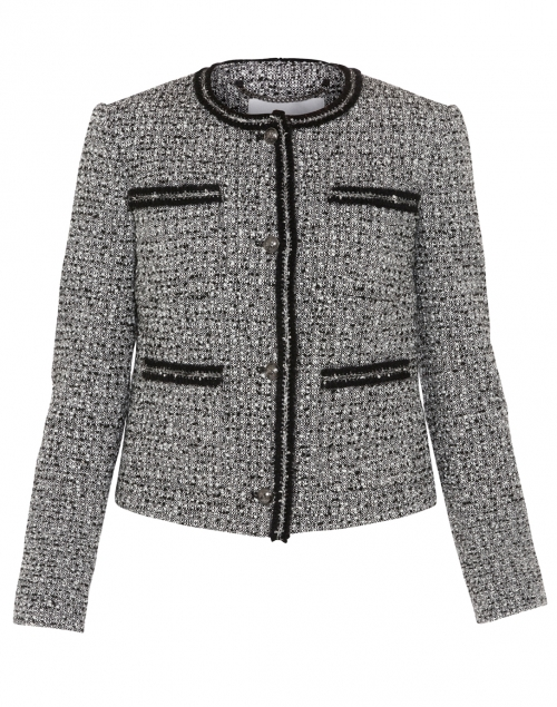 Astrala Black and Cream Tweed Jacket