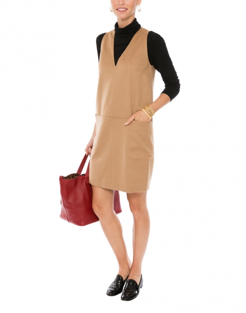 Vicky Camel Wool Dress