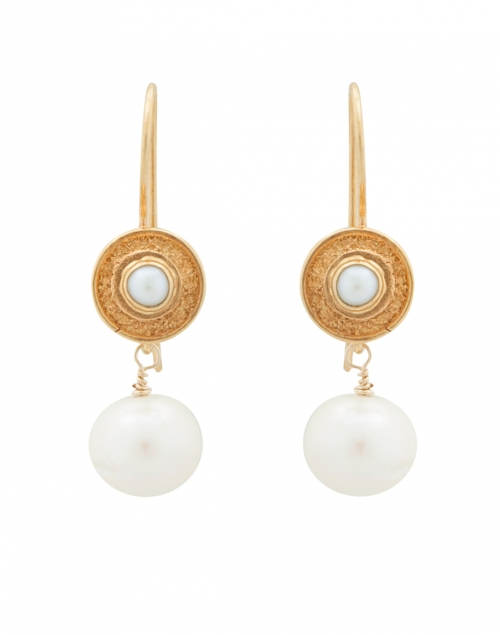 Wentworth Pearl and Gold Drop Earrings