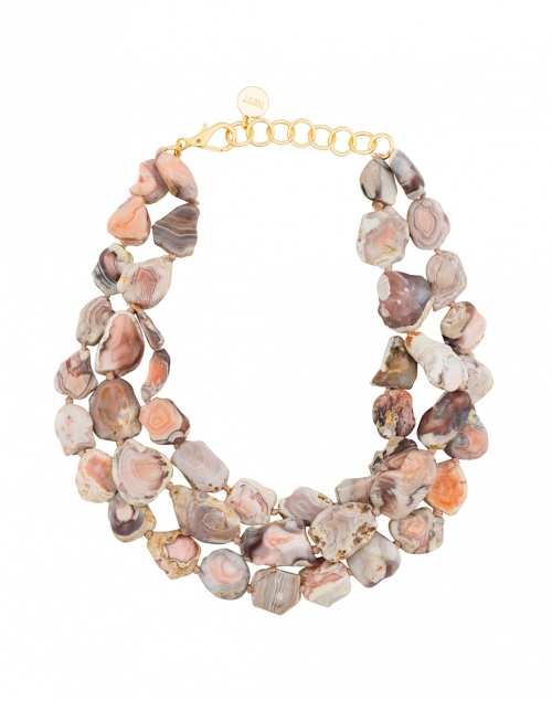 Pink Agate Triple Strand Necklace