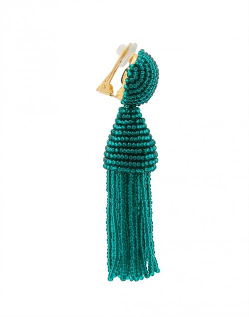 green tassel earrings oscar de la renta halsbrook