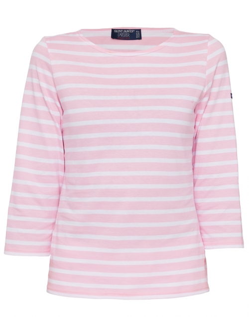 Galathee Pink And White Striped Shirt Saint James