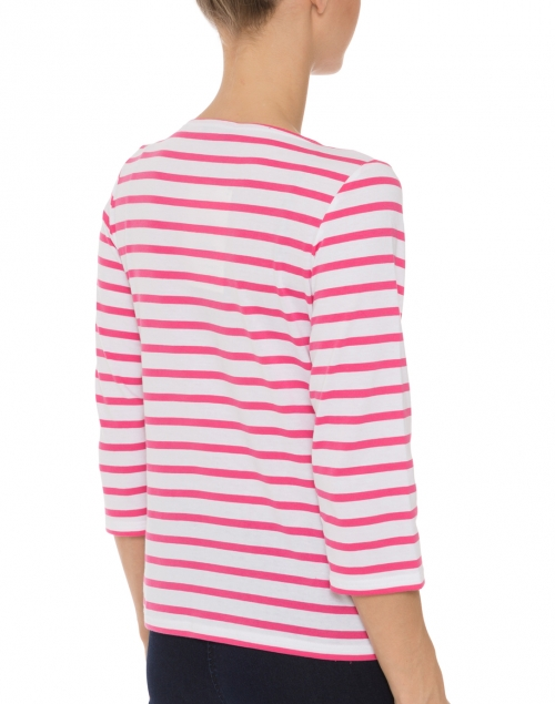 Galathee white and hot pink striped shirt saint james for St james striped shirt