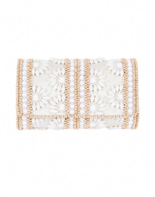 Ivory Floral Beaded Clutch