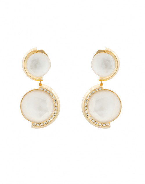 Bianca Mother of Pearl and Pave Drop Earrings