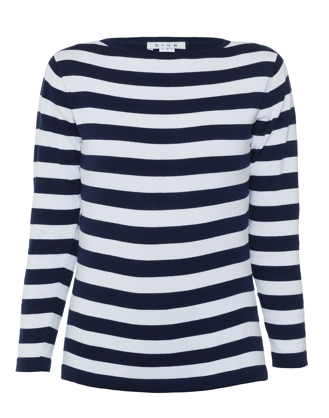 Throw on the Amuse Society Salt Air Washed Navy Blue Striped Sweatshirt and go for a crisp morning walk on the beach! Soft, lightweight knit in a classic washed navy blue and white striped pattern, shapes this cozy pullover sweatshirt with a crew neckline, long sleeves, and a wide-cut, relaxed fit.