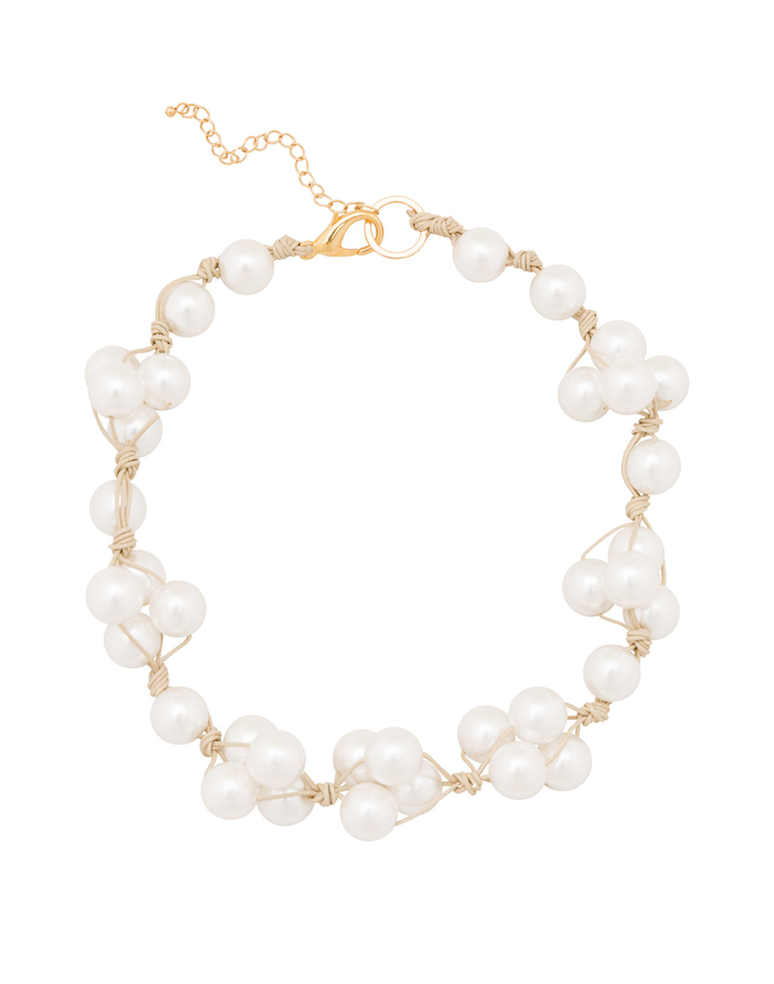 White pearl woven necklace deborah grivas halsbrook for White pearl