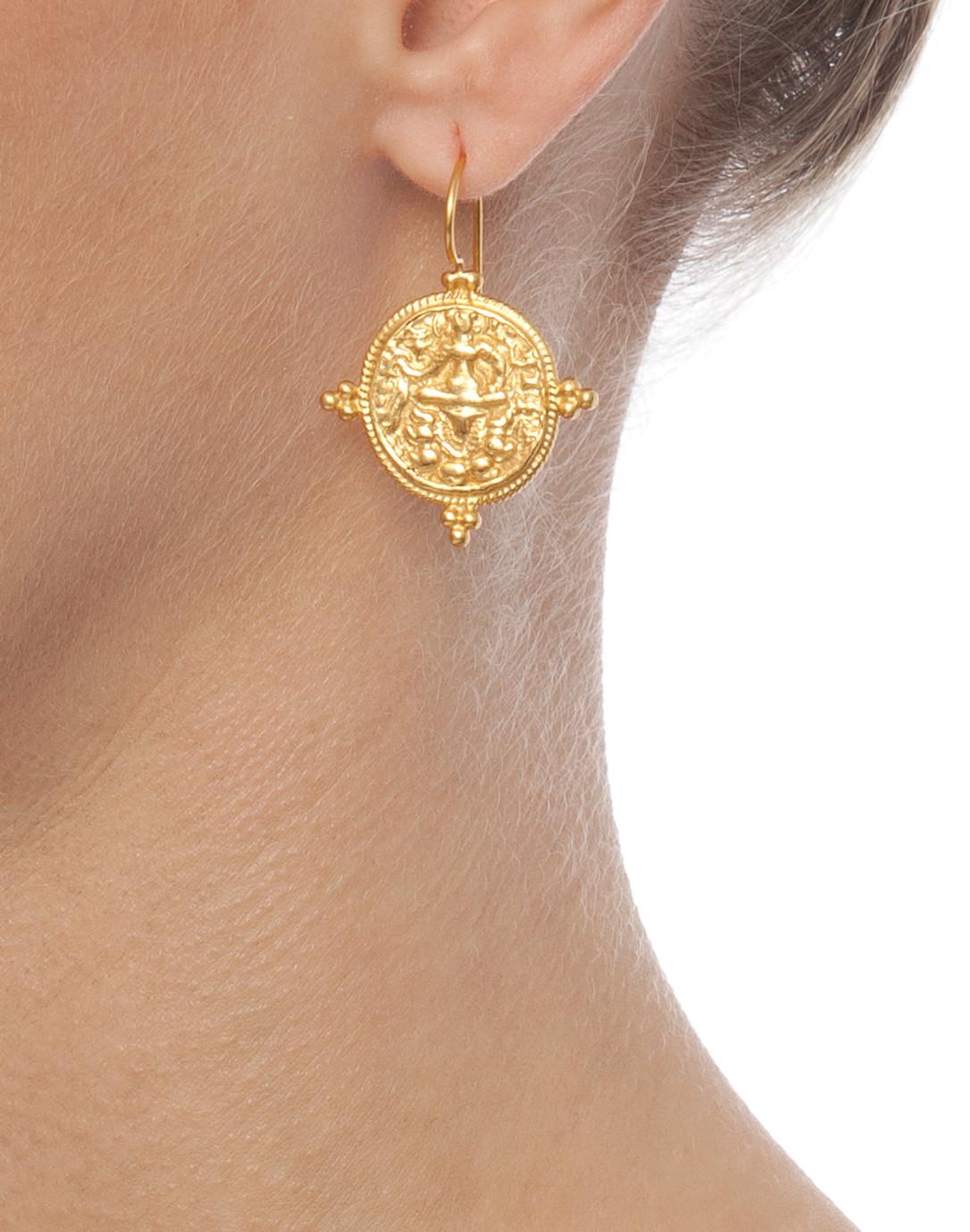 f164c720c5a39 Quatro Coin Earrings