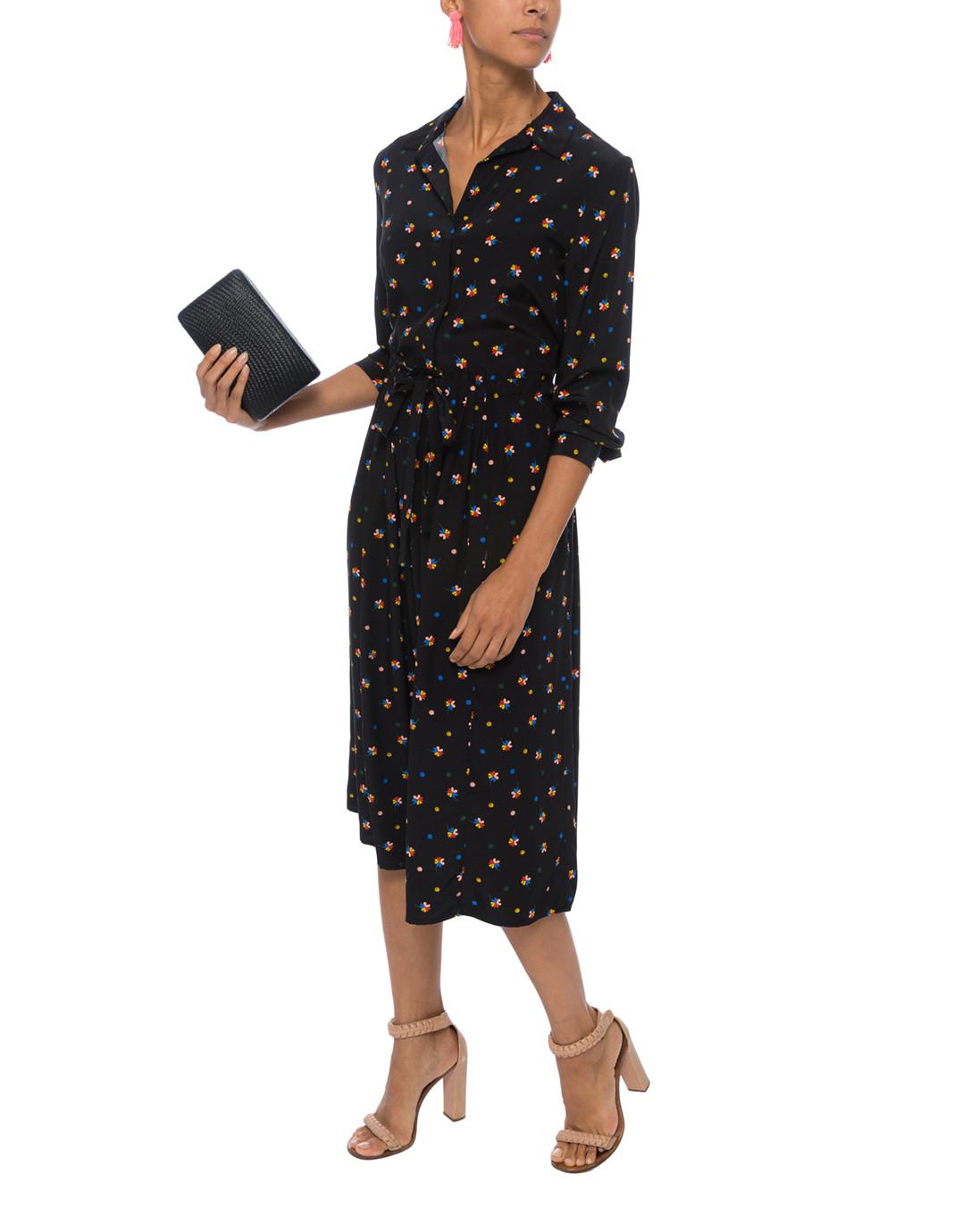 Lucky Clover Black Silk Shirt Dress Chinti And Parker Halsbrook