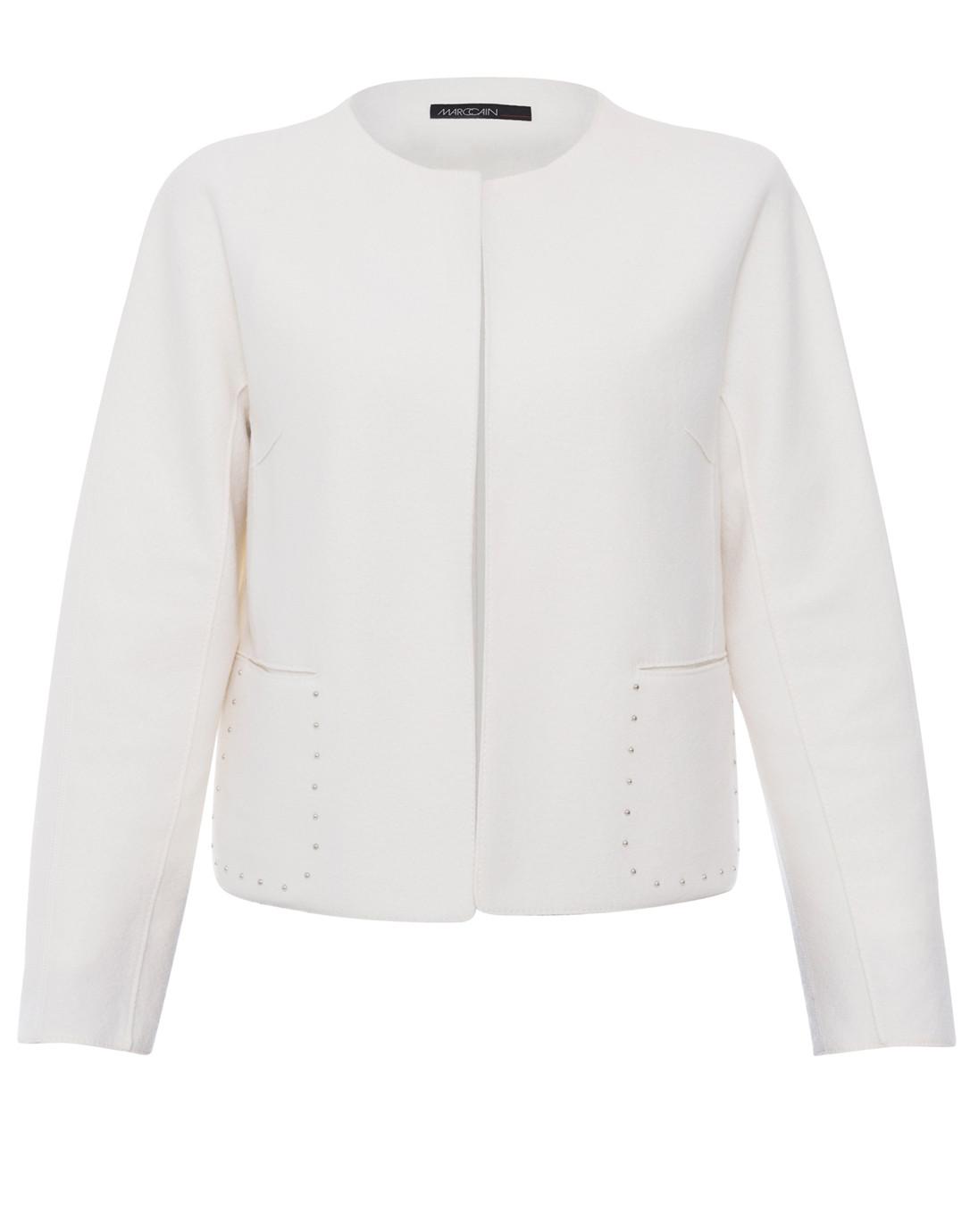 df92b7a4cc58 White Short Wool Jacket   Marc Cain   Halsbrook