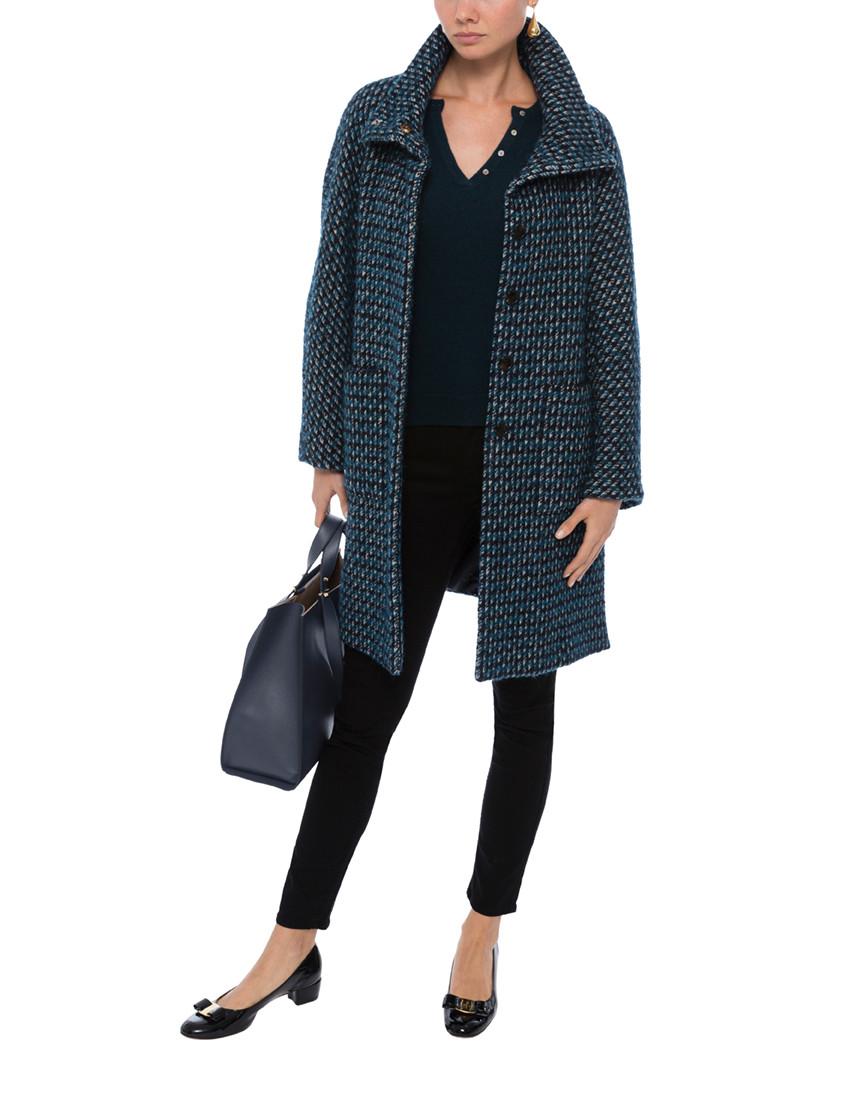 canon ultramarine tweed coat weekend max mara halsbrook. Black Bedroom Furniture Sets. Home Design Ideas