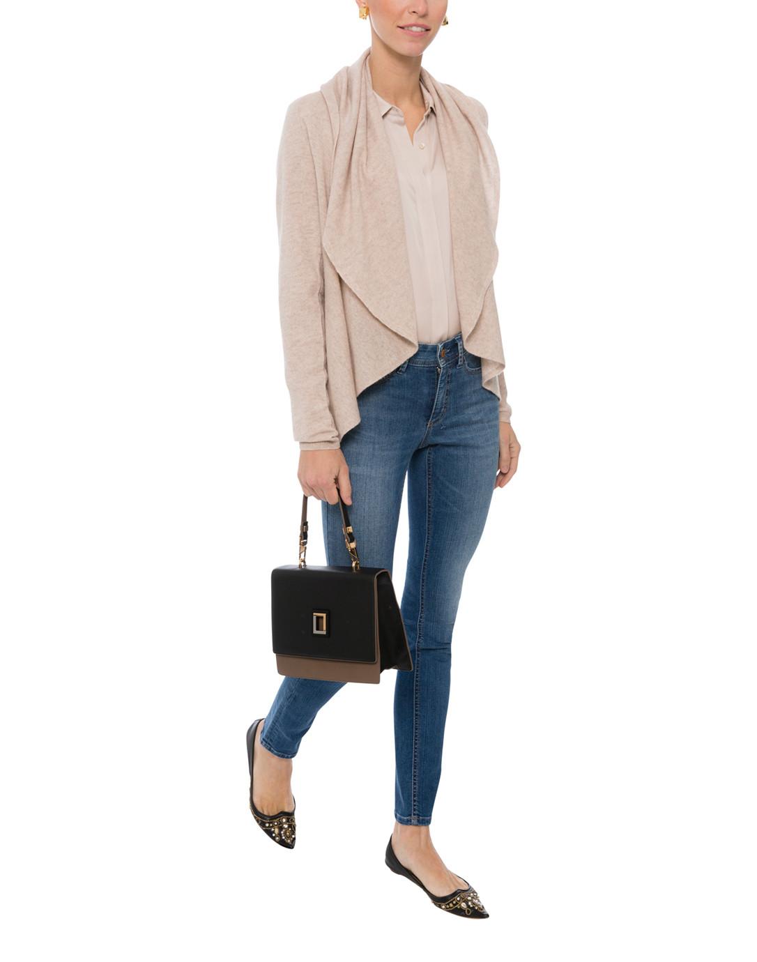 f9d2b240 Light Beige Stretch Silk Button Down Shirt | Repeat Cashmere | Halsbrook