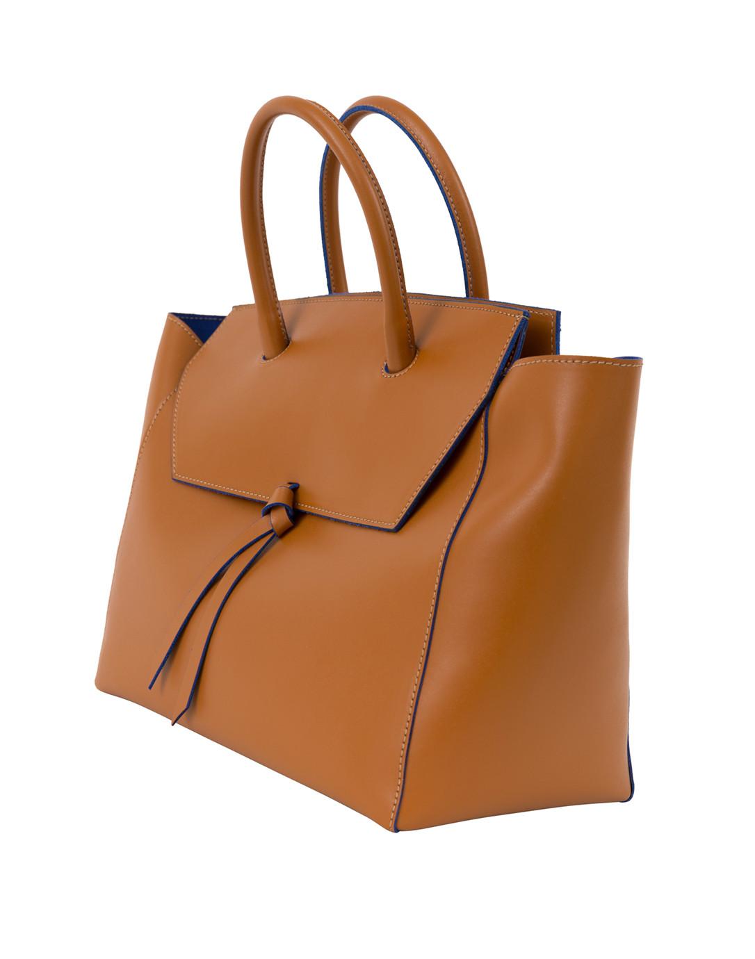d2f27349fc71 Alexandra de Curtis. Loren Cognac Leather Tote.  805 Essentials