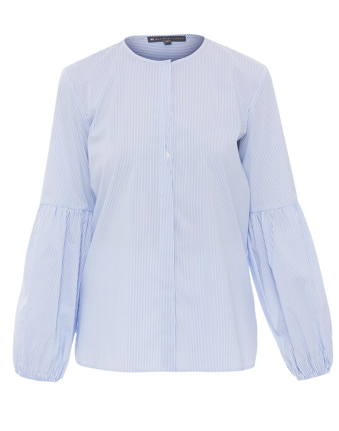 Blue And White Striped Billow Sleeve Shirt Elliott