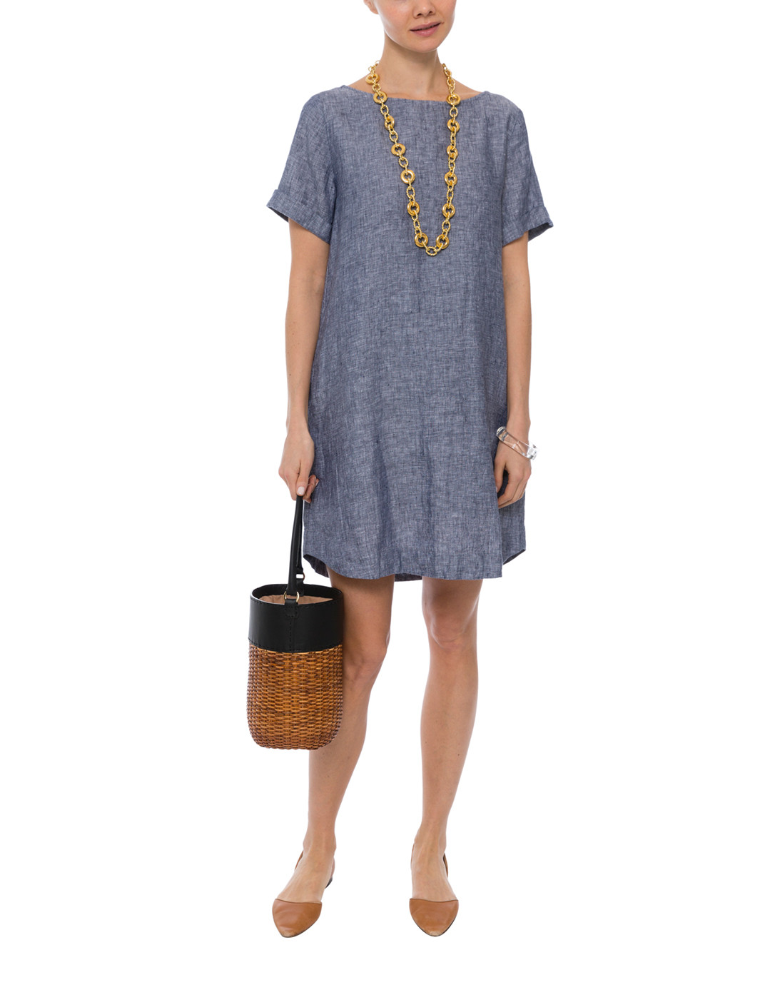 4f6984b9dd Hinata Blue Linen Dress