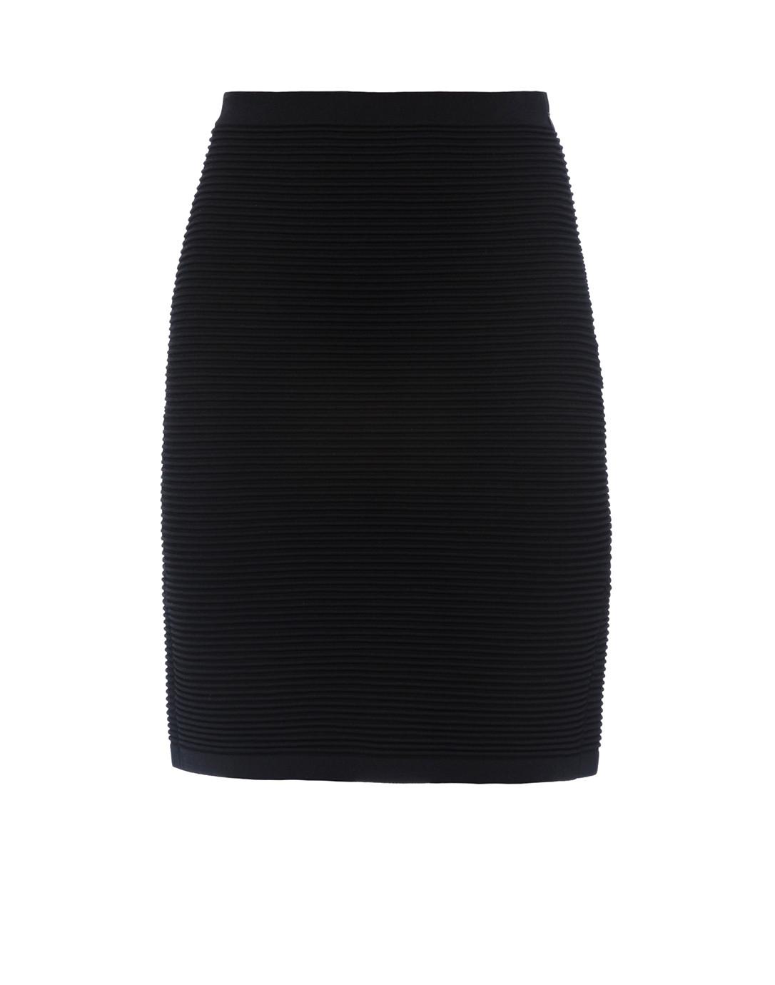 2485c316e0 Black Ottoman Stitch Stretch Pencil Skirt | Emporio Armani | Halsbrook