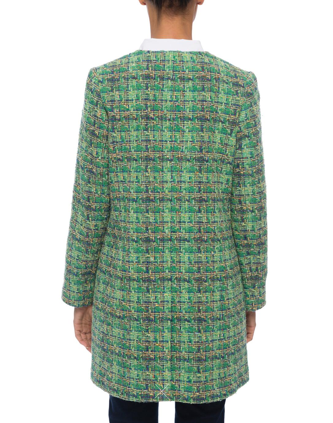 Edge To Edge Green Tweed Jacket Helene Berman Halsbrook