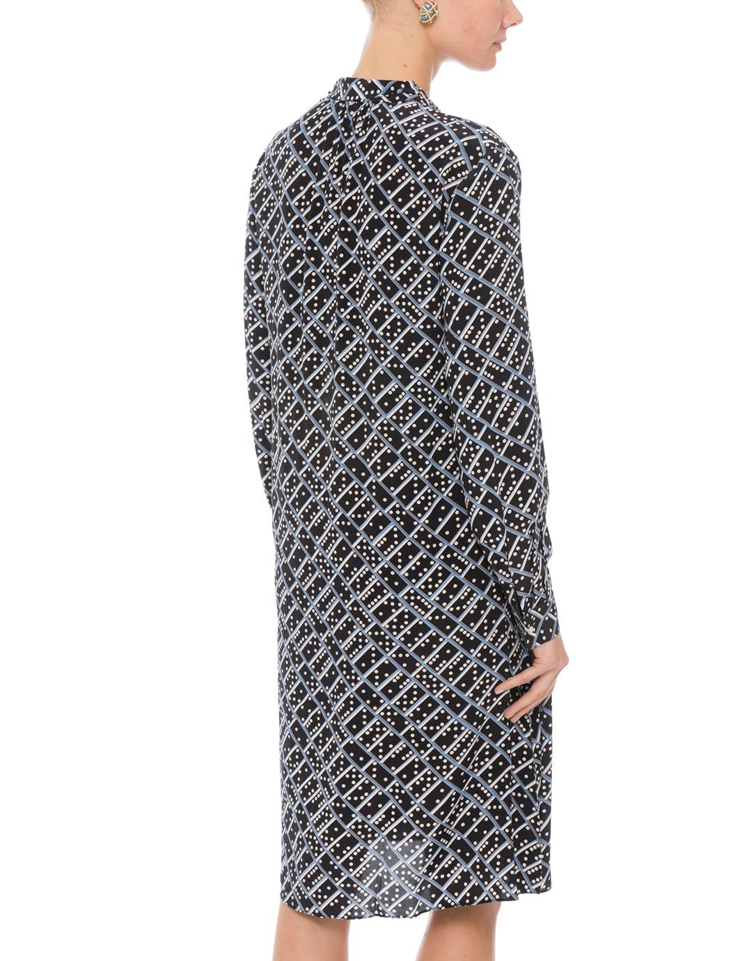 7e0b2f83ac5f7 L.K. Bennett. Lotte Domino Blue Print Silk Dress.  645  194 FINAL SALE   CANNOT BE RETURNED
