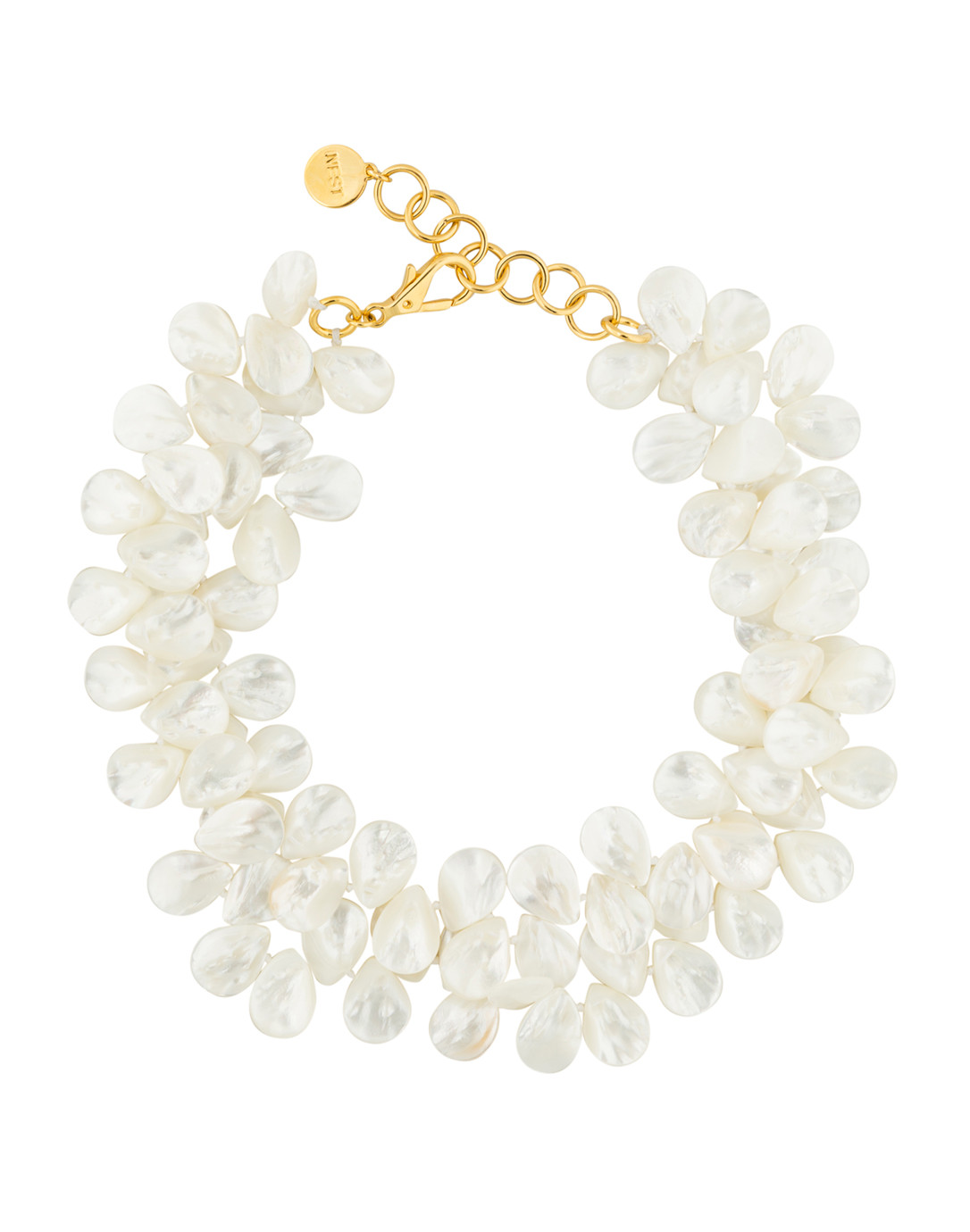 Nest Mother-of-Pearl Cluster Necklace oilpVV