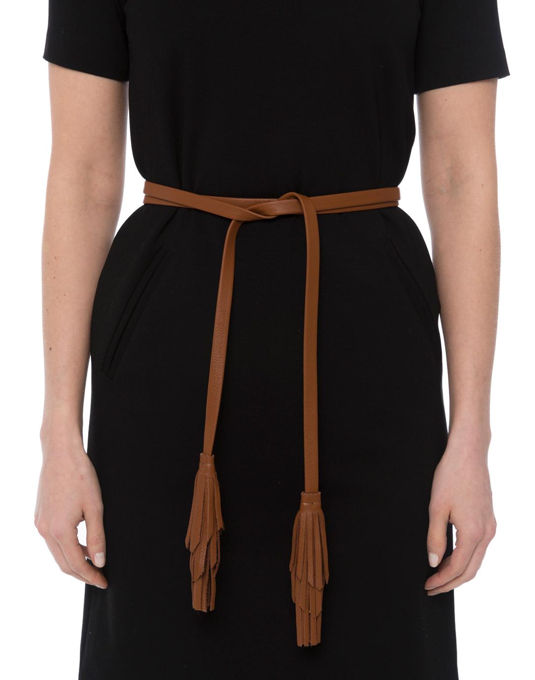 48539d5ca6ce5d Gatsby Brandy Leather Wrap Belt