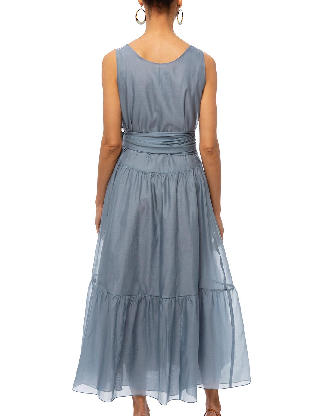 d7bed2c7ed Manche Light Blue Silk Cotton Voile Dress