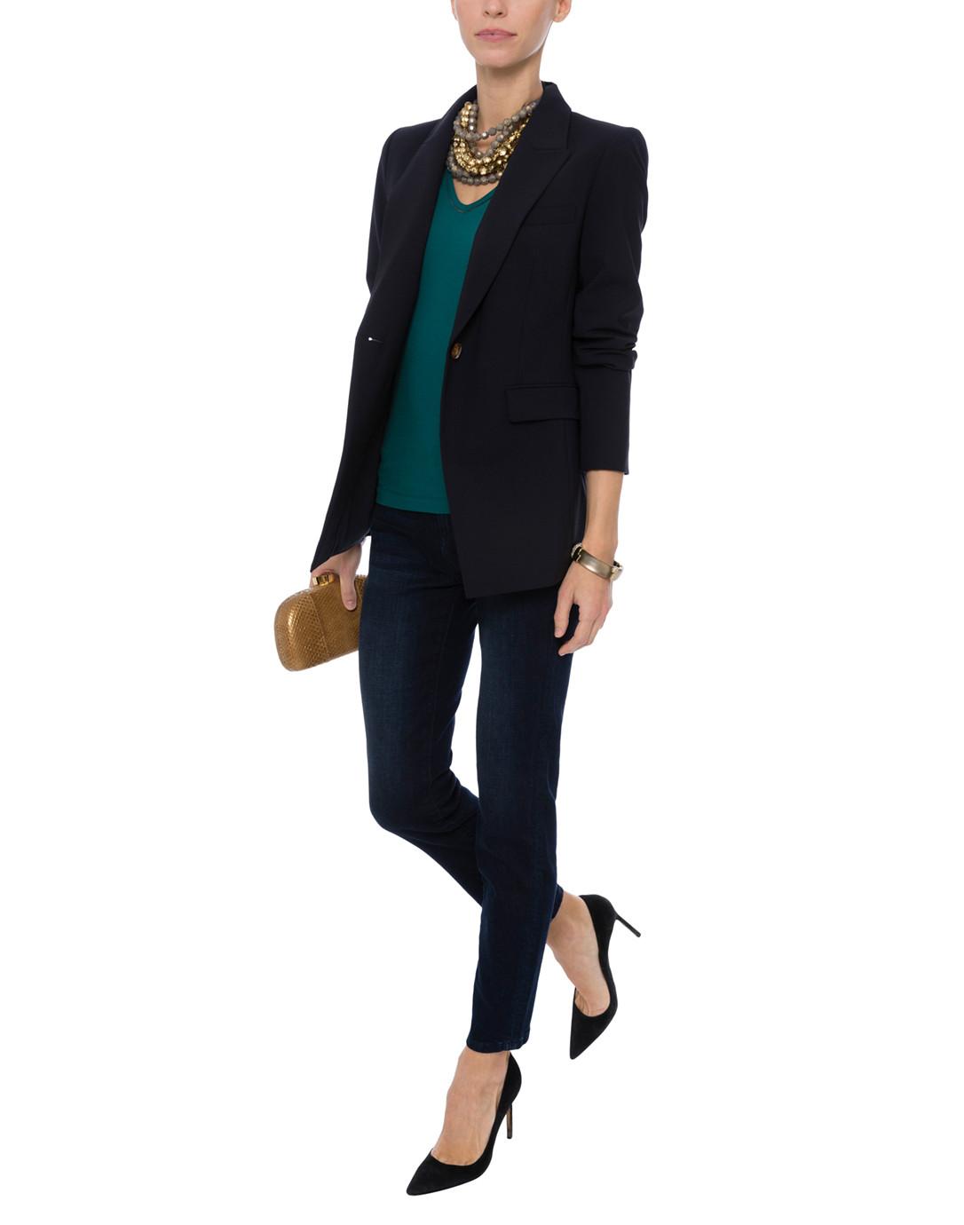d53f97ab5 Ebaze Blue Green Stretch Cotton Top | Escada Sport | Halsbrook