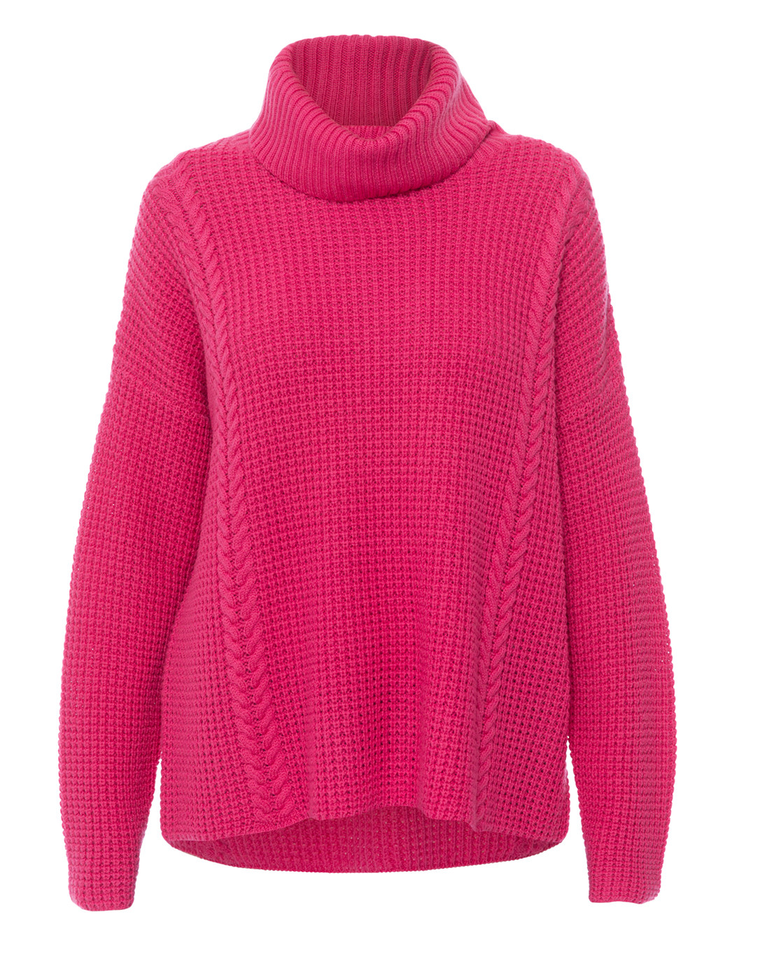 40ffda94a759 Hot Pink Cable Knit Merino Wool Sweater