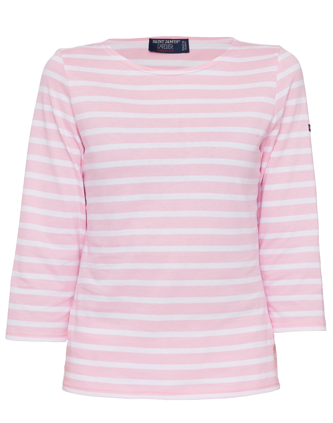Galathee pink and white striped shirt saint james for St james striped shirt