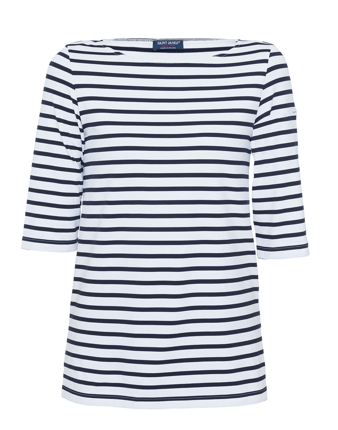 Phare white and navy striped shirt saint james halsbrook for St james striped shirt