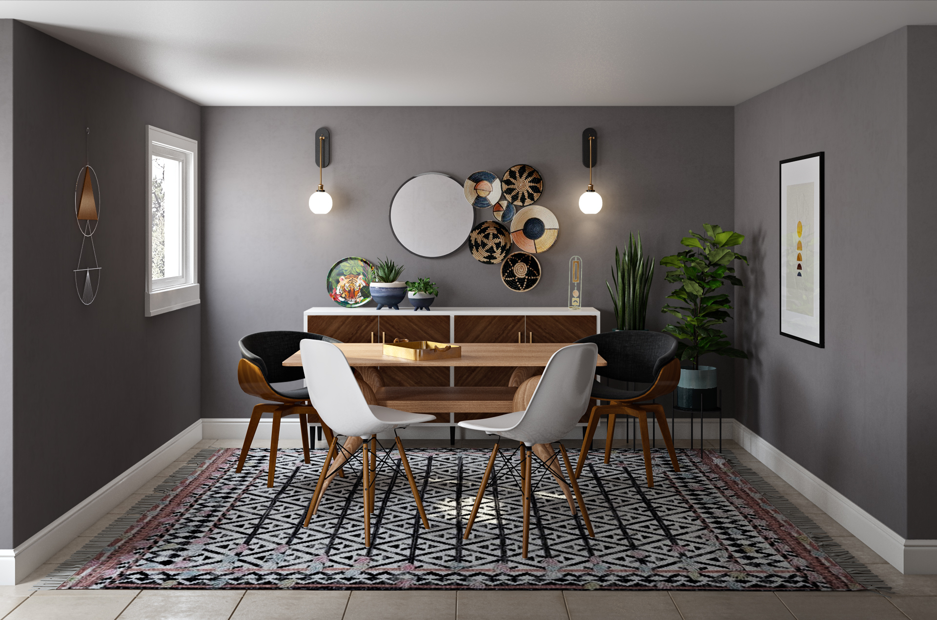 Modern Eclectic Bohemian Midcentury Modern Room Design By Havenly Interior Designer Natalie
