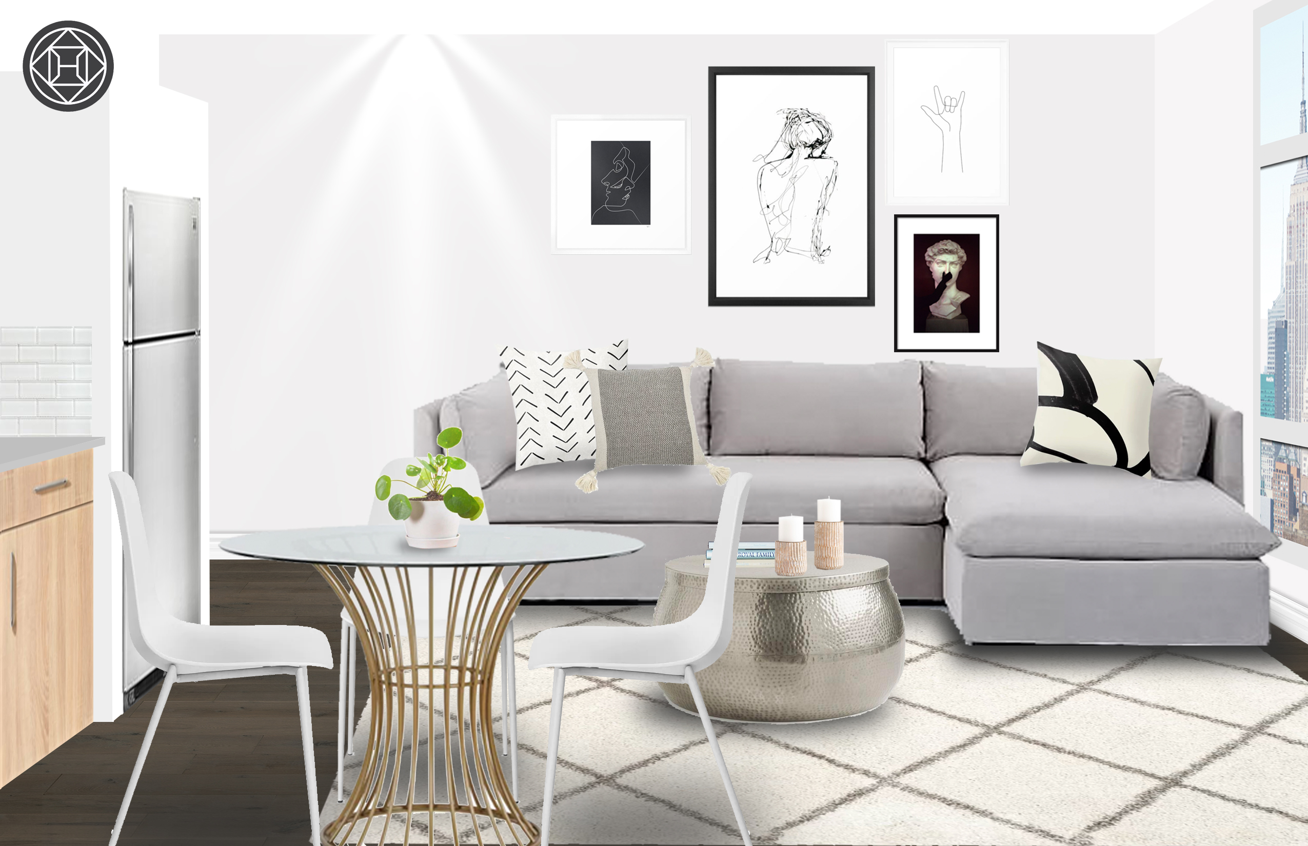 Groovy Modern Industrial Scandinavian Living Room Design By Uwap Interior Chair Design Uwaporg
