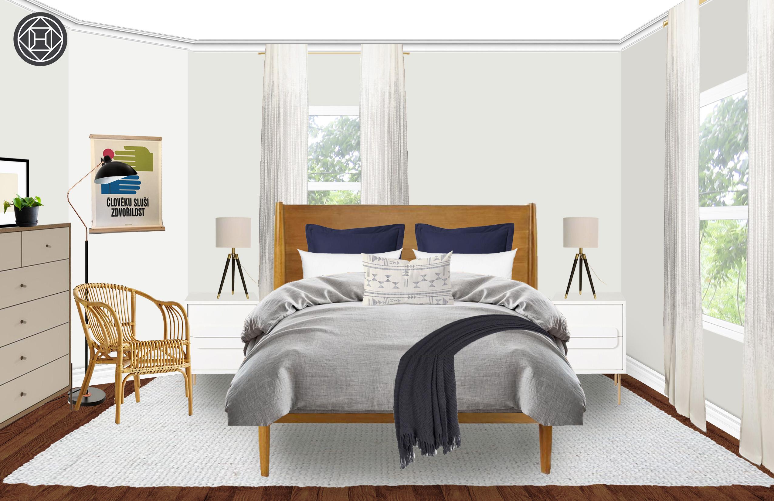 eclectic midcentury modern bedroom designhavenly