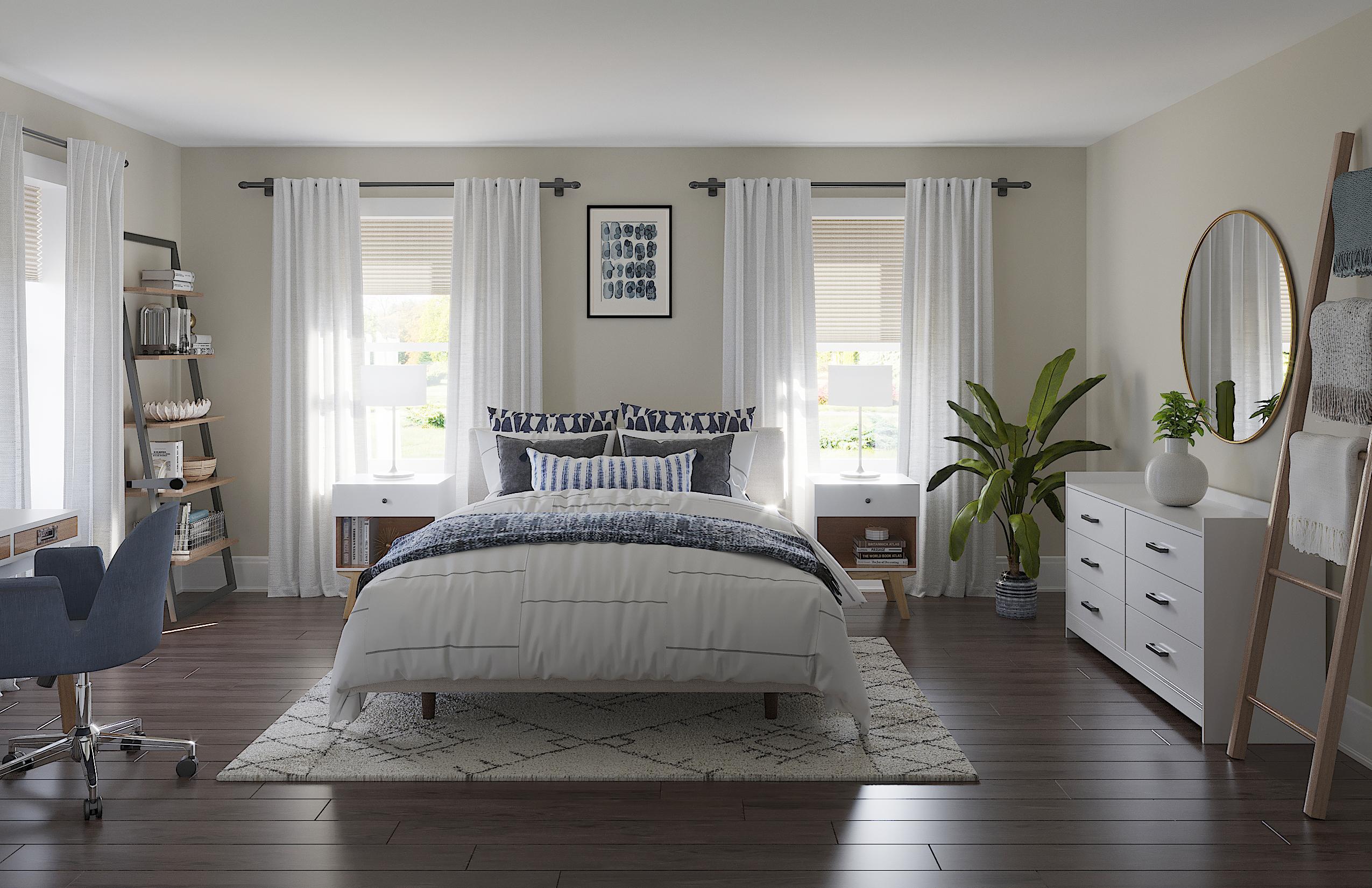 Midcentury Modern Minimal Bedroom Design By Havenly