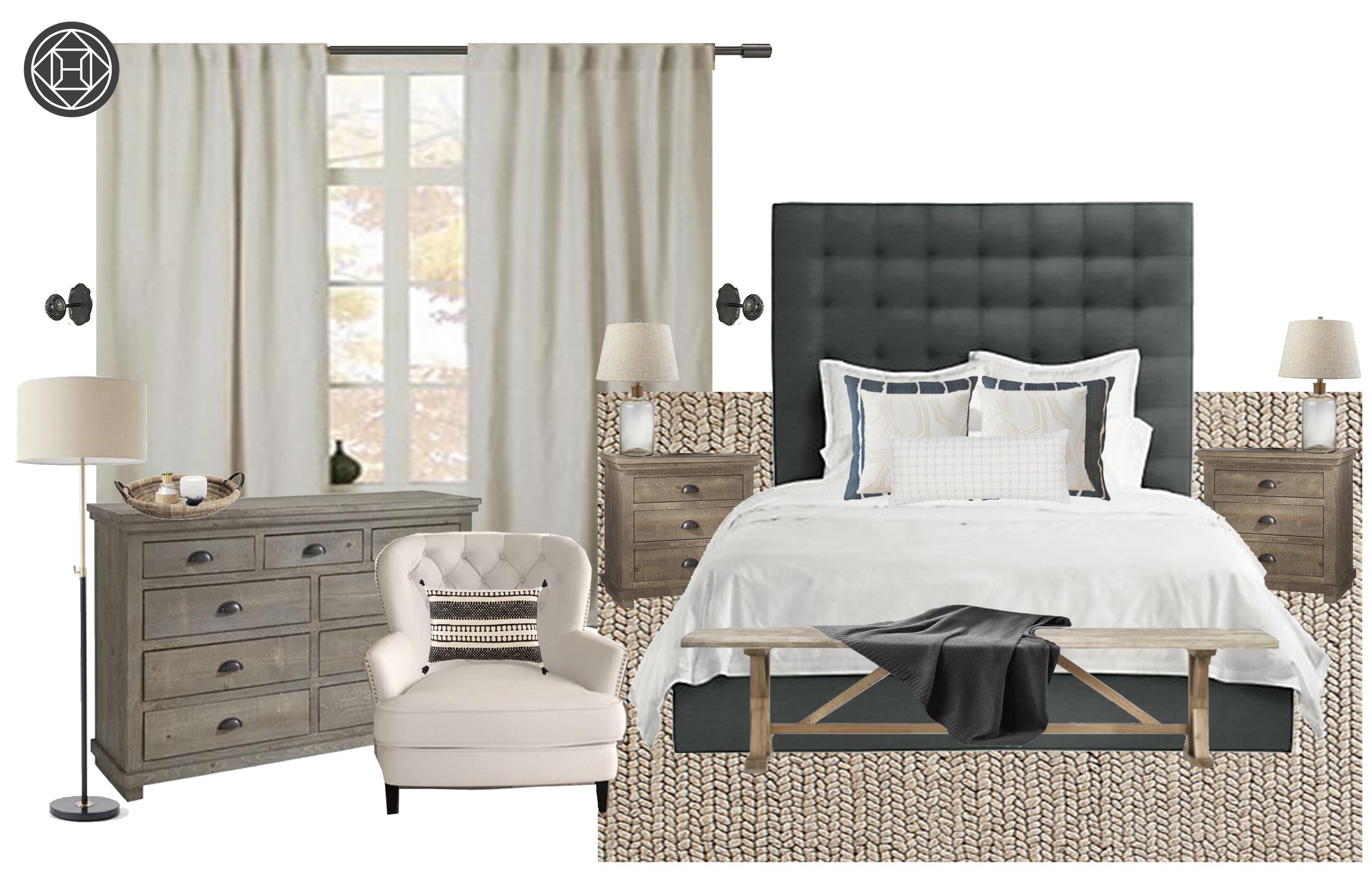 Bohemian Farmhouse Bedroom Design By Havenly Interior
