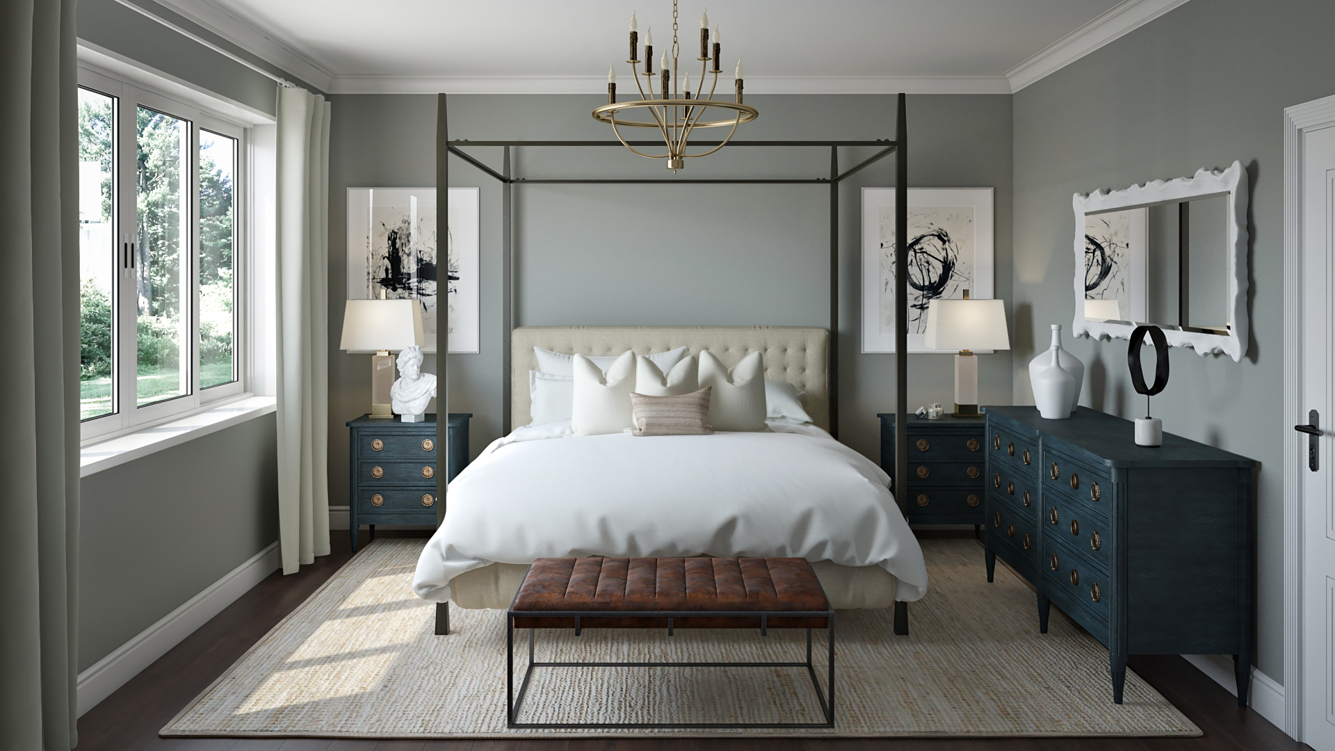 Traditional, Transitional Bedroom Design by Havenly Interior ...