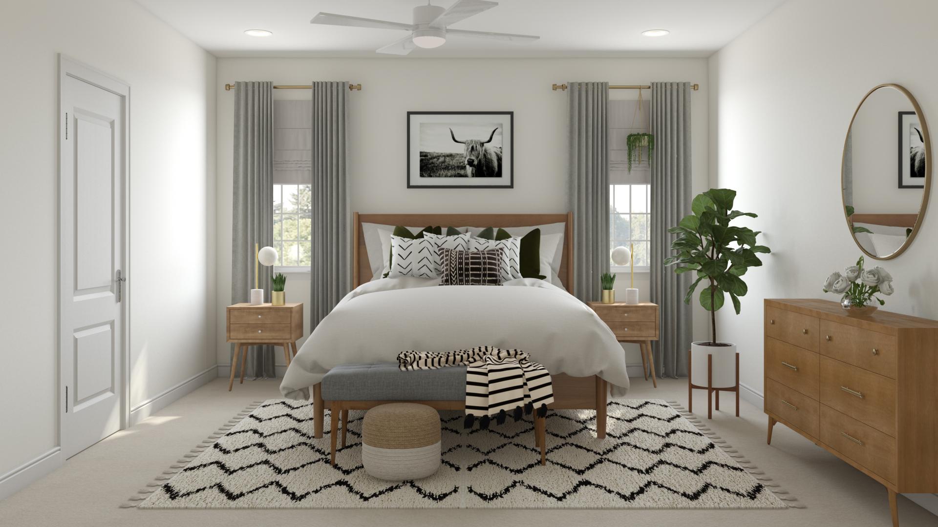 Eclectic Bohemian Glam Global Midcentury Modern Bedroom Design By Havenly Interior Designer Danielle