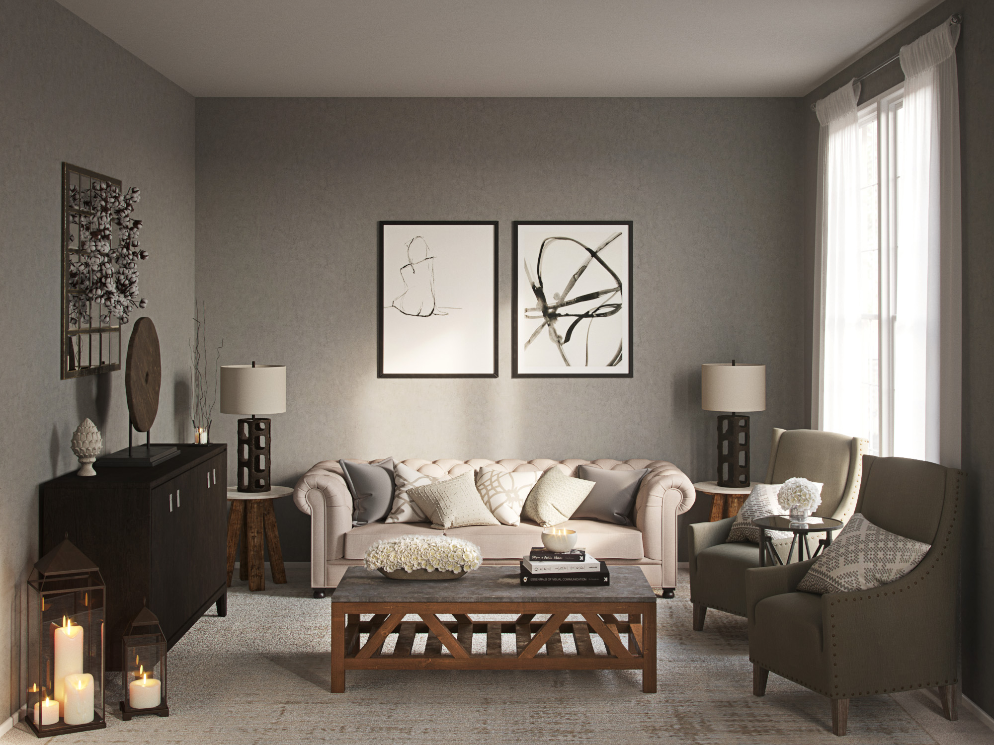 Contemporary Classic Industrial Rustic Transitional
