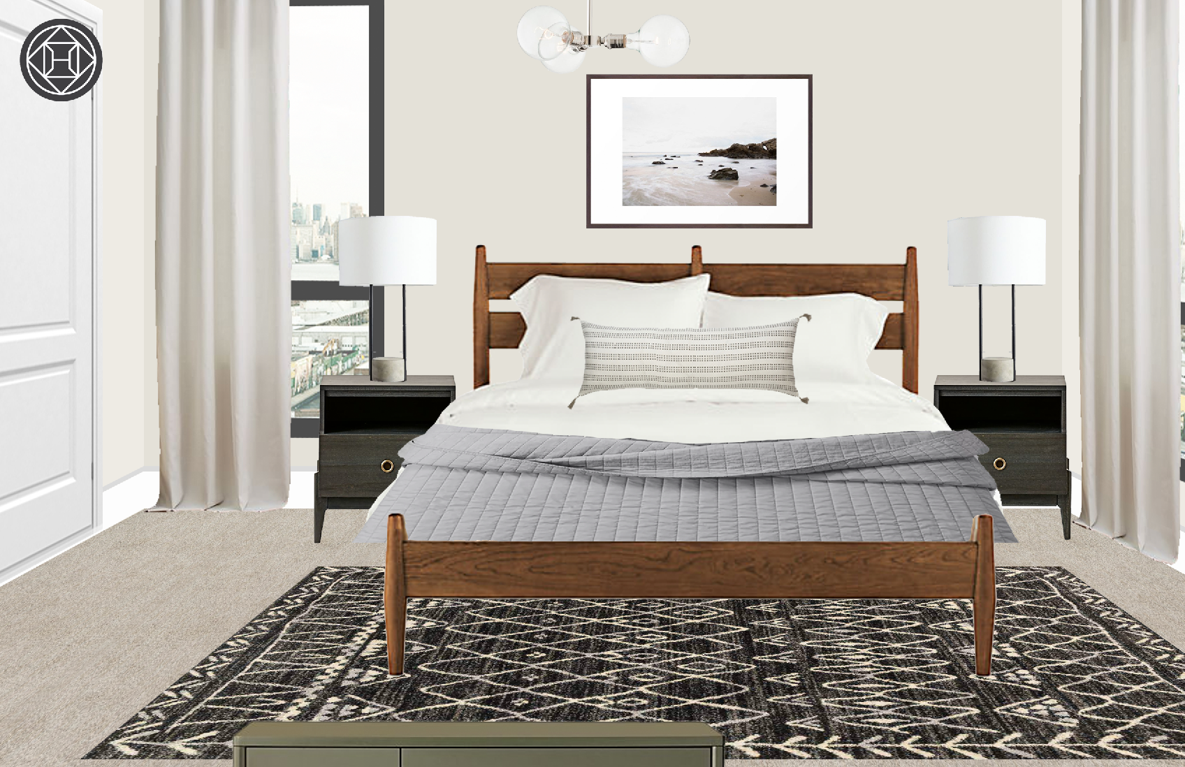 Contemporary Eclectic Midcentury Modern Bedroom Design By