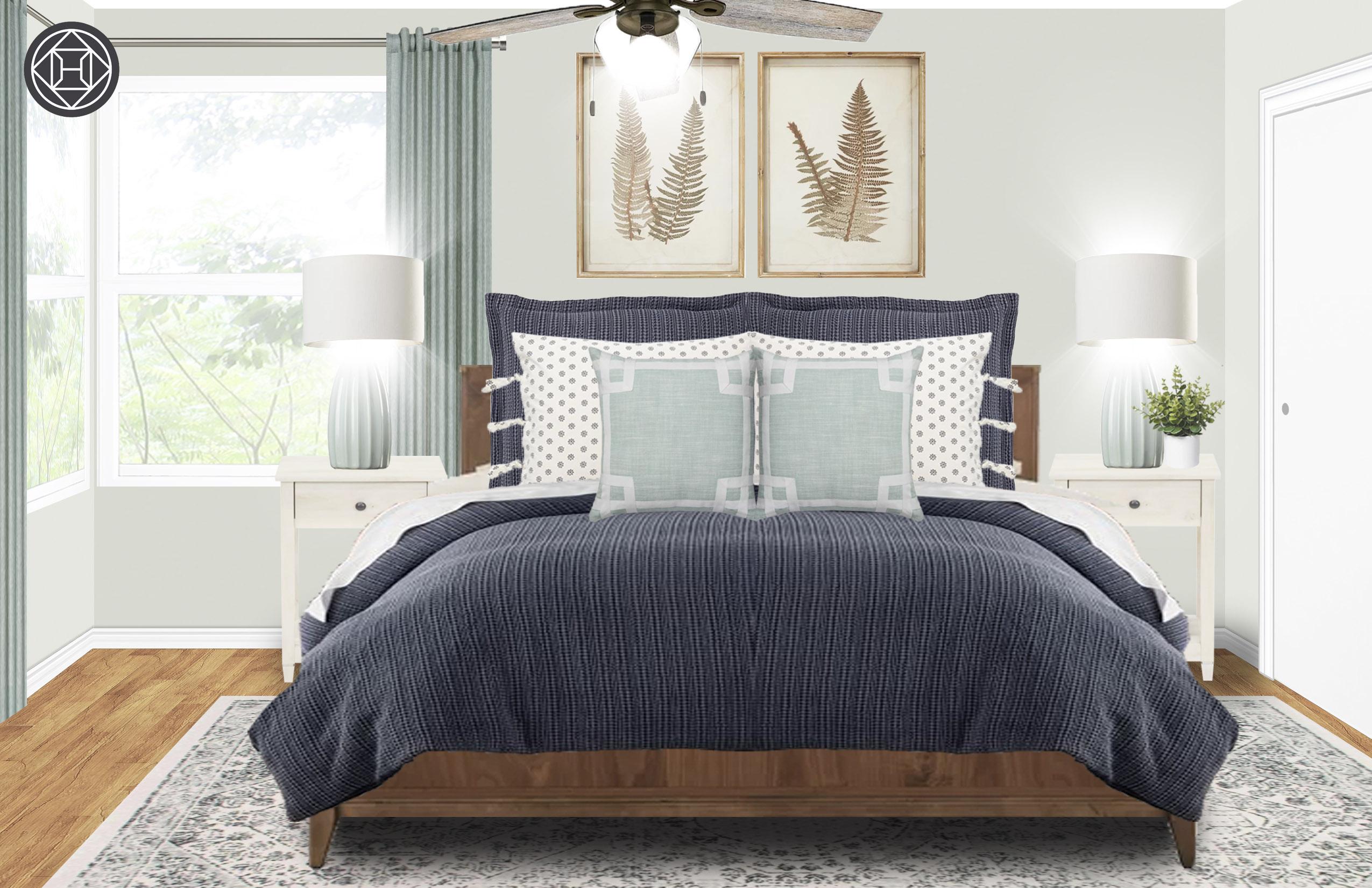 Classic Coastal Farmhouse Bedroom Design By Havenly Interior Designer Meredith