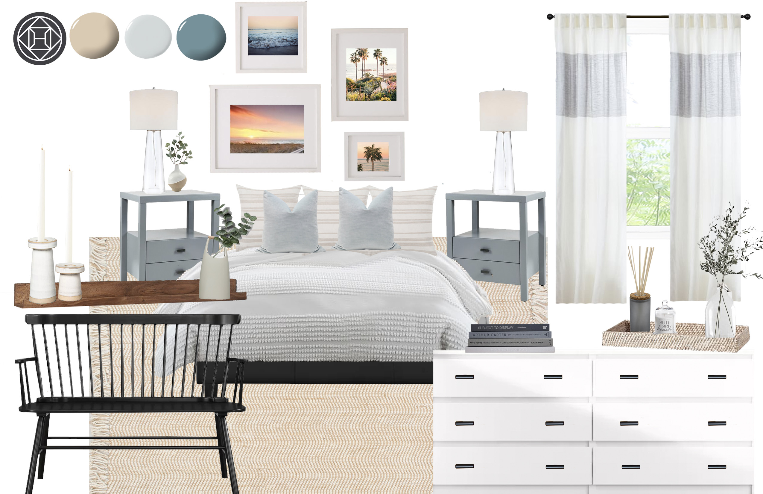 Coastal Farmhouse Bedroom Design By Havenly Interior Designer Lilly