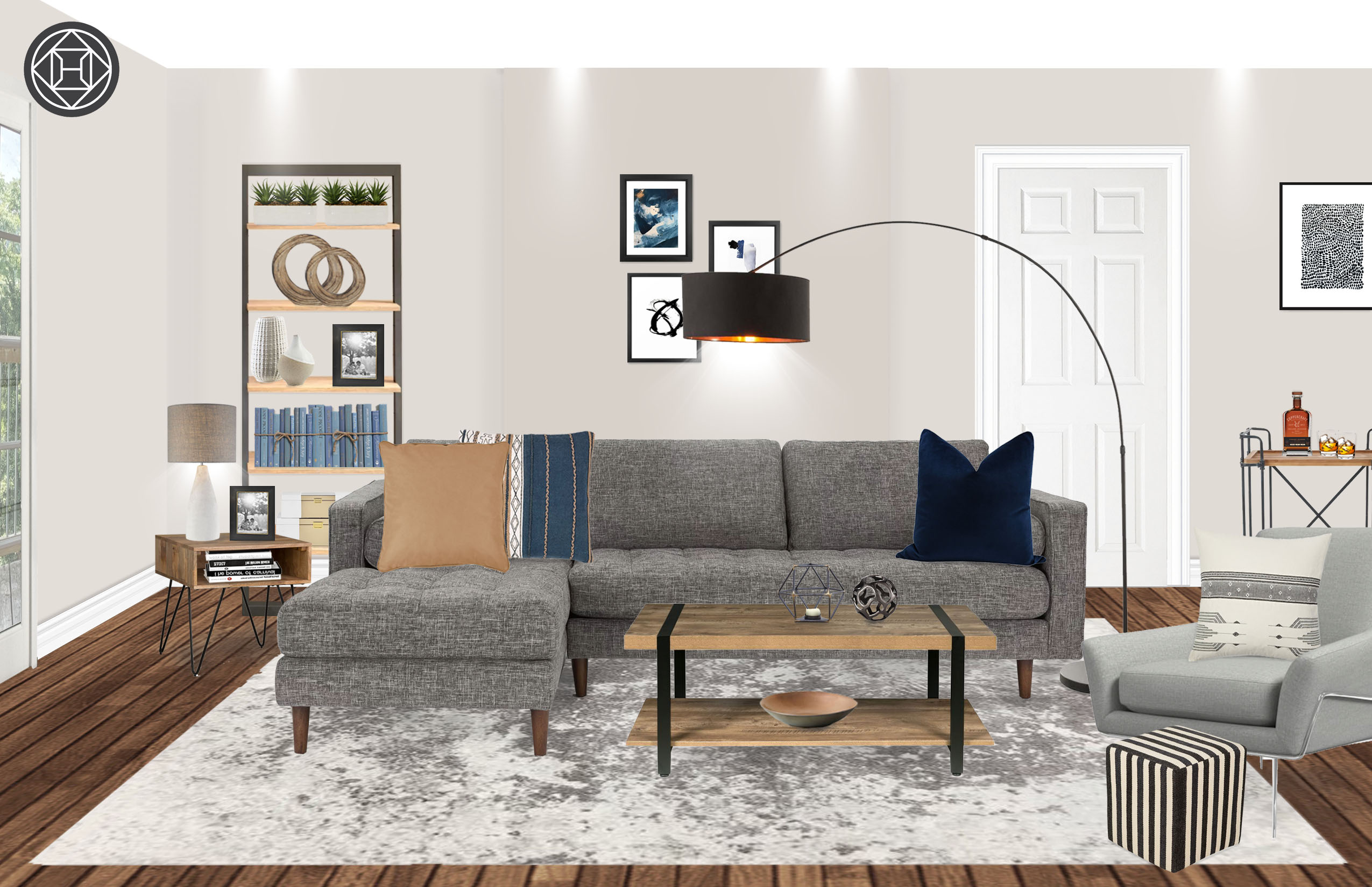 Modern Eclectic Minimal Living Room Design By Havenly
