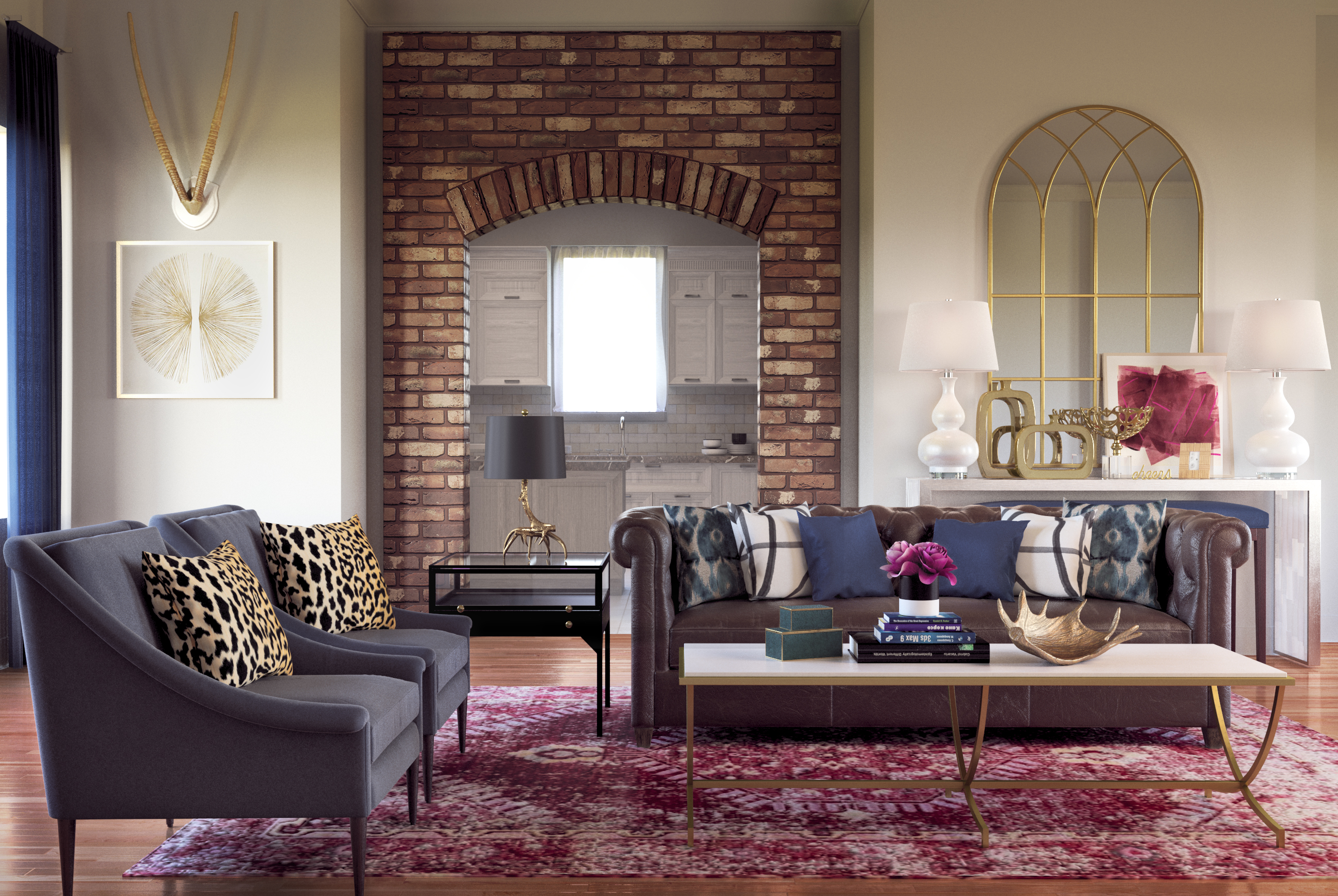Contemporary Eclectic Glam Rustic Transitional Preppy