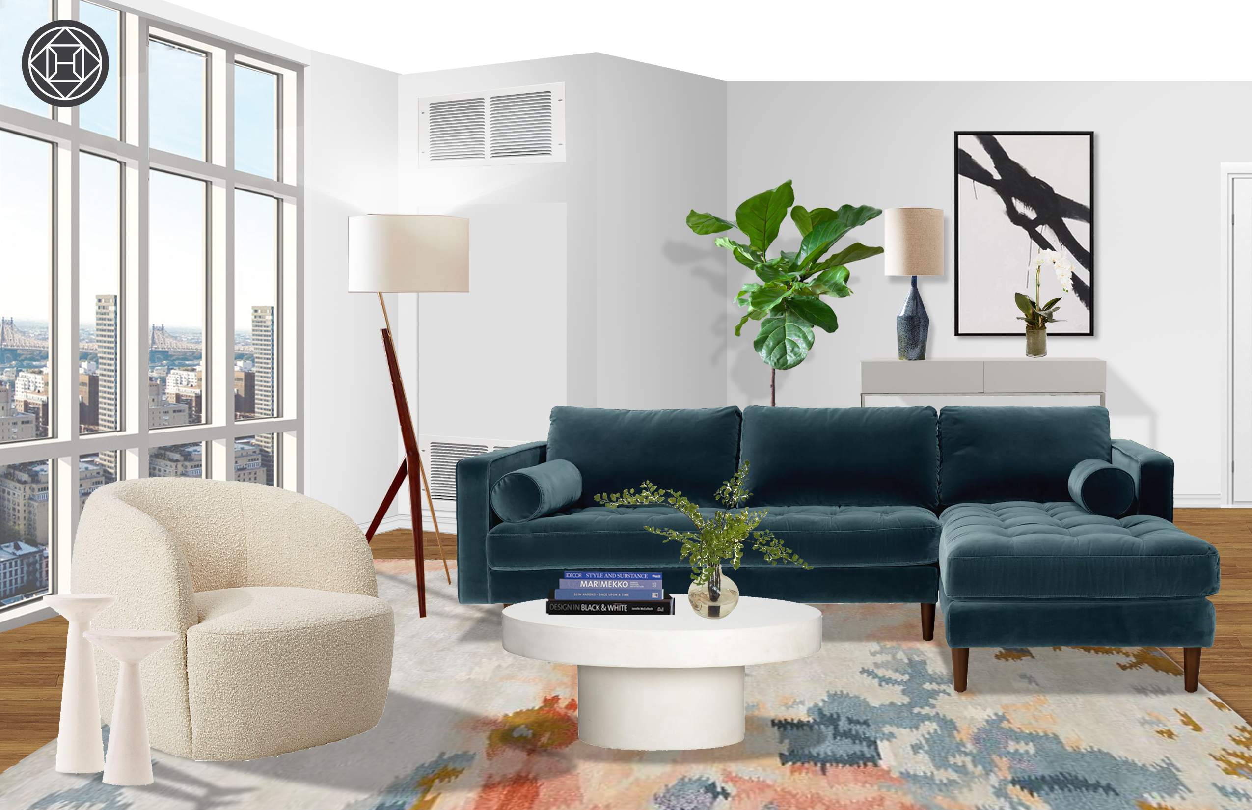 Modern Glam Living Room Design By Havenly Interior Designer Isaac