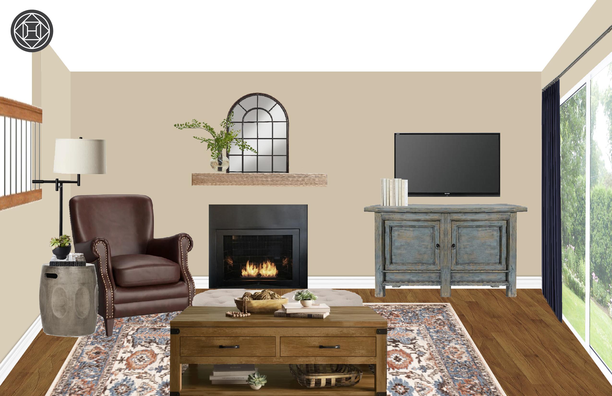 Transitional Living Room Design By Havenly Interior Designer