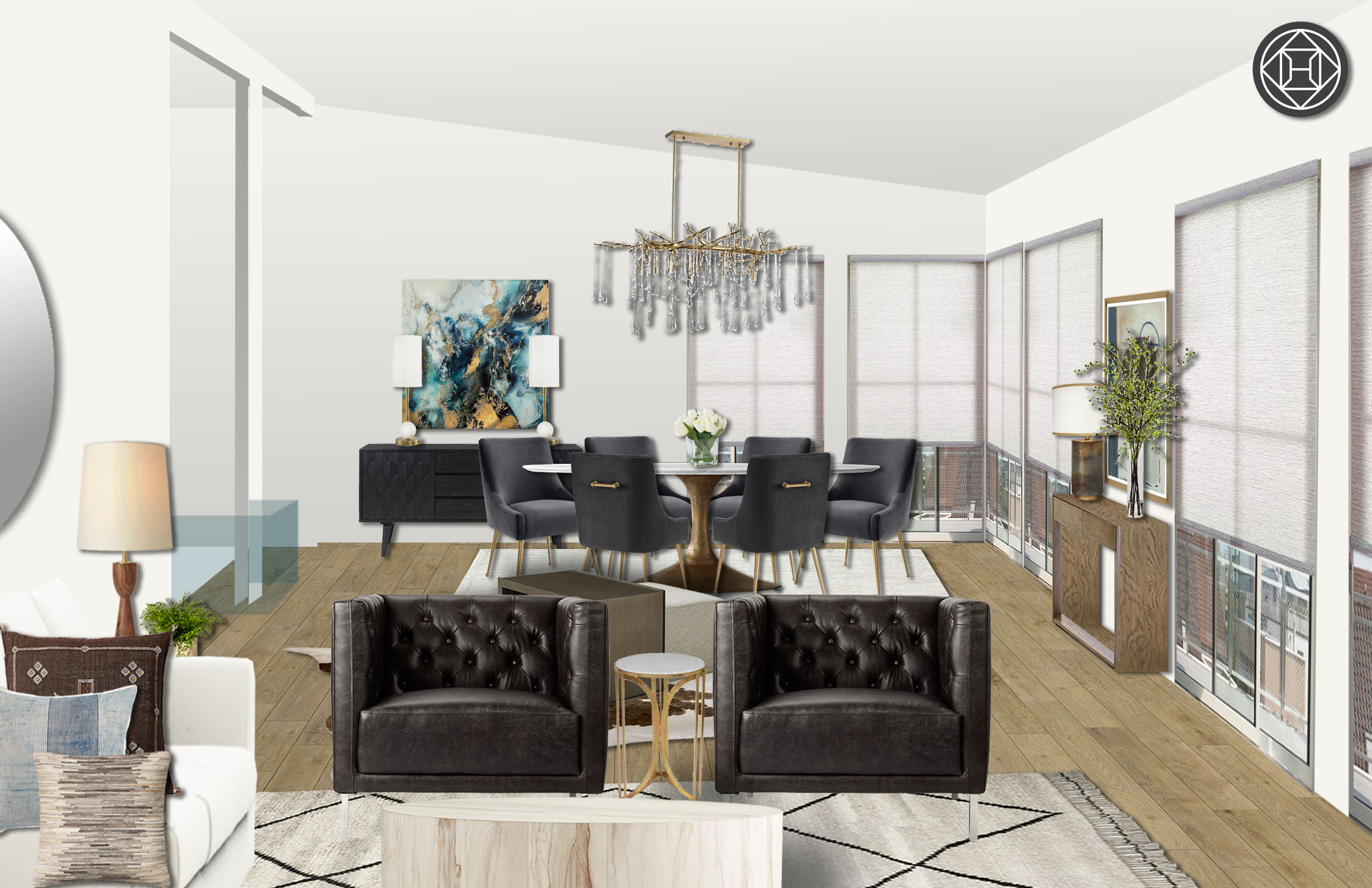 Terrific Modern Classic Living Room Design By Havenly Interior Alphanode Cool Chair Designs And Ideas Alphanodeonline