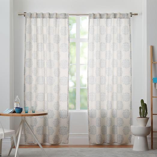 "Scroll Medallion Curtain - 108"""