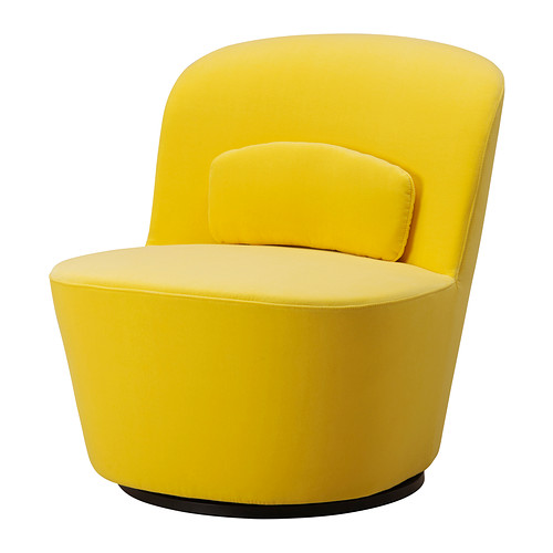 Stockholm Swivel Chair Sandbacka Yellow By Ikea Havenly