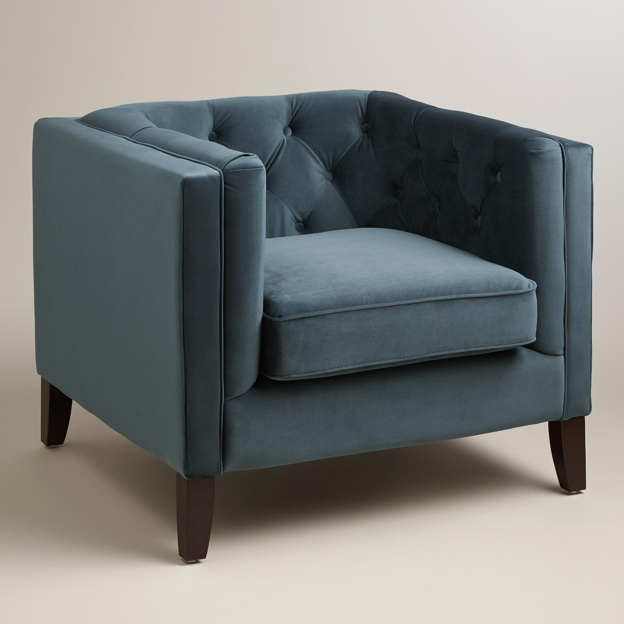 Midnight Blue Kendall Velvet Chair by World Market Cost Plus